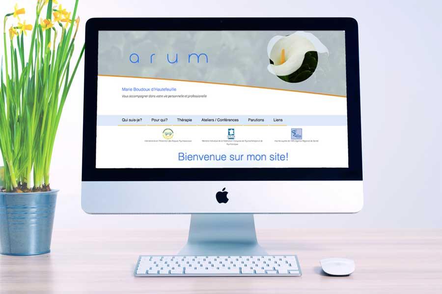 Website Arum Psychologie