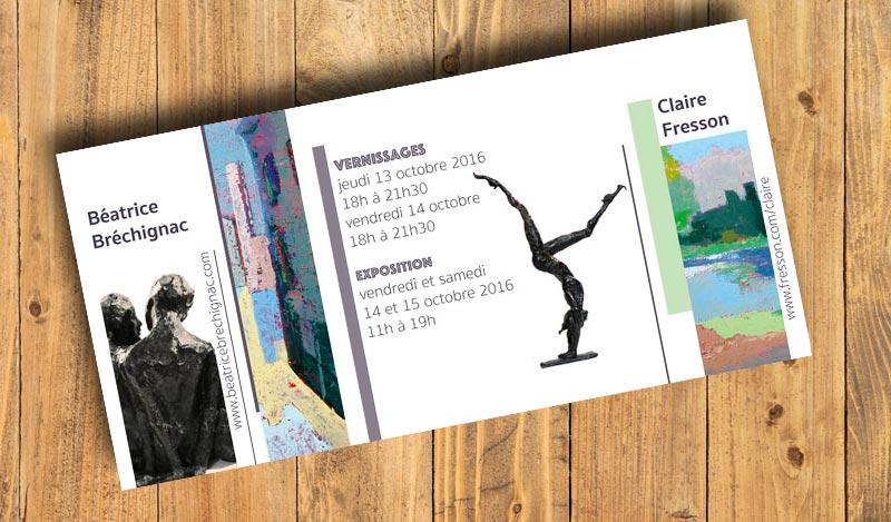 Invitation for the exhibition of Claire Fresson