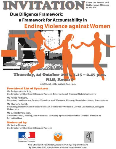 Invitation to the side event: Ending violence against women