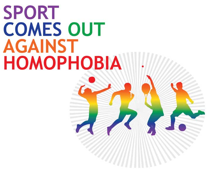 Sport comes out against homophobia - HRD event, December 2013 - visual